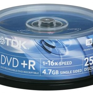 TDK DVD+R 25-pk (CakeBox)